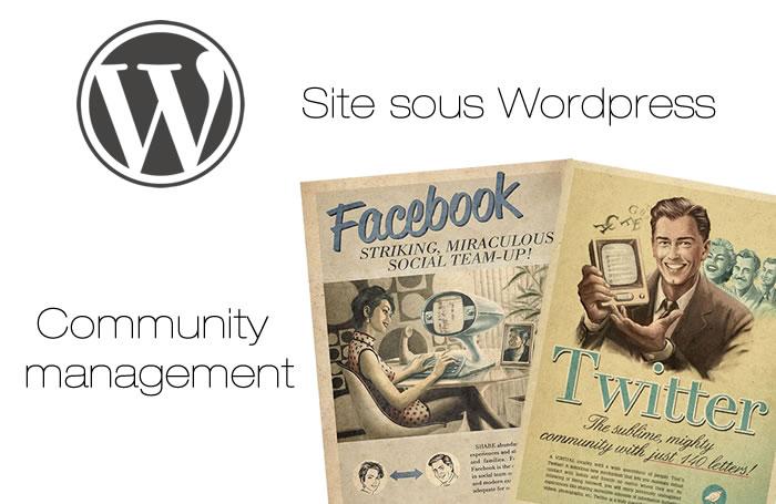 Création site sous Wordpress - Community Management